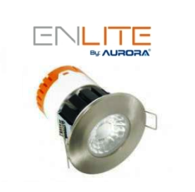 Premium Insulation Coverable 8w Dimmable Downlight with Satin Chrome Bezel