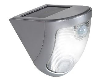 Solar Powered Security Wall Light with Motion Sensor