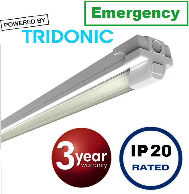 Contract LED Emergency batten 5ft (std output) 35watt, 3726 lumens (high output) 62watt, 6595 lumens