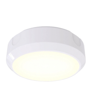 14W LED Circular 1200 Lumen Bulkhead With 20mm Conduit Entry Base (White or Black)