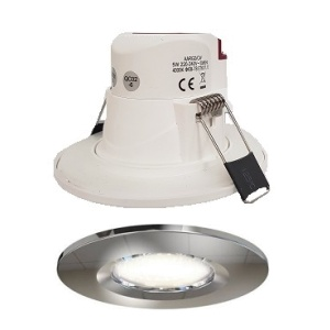 Economy 5w LED Downlight IP65 CHROME Bezel