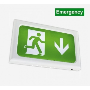LED Emergency Exit Sign Complete with NEW REGULATION legend kit