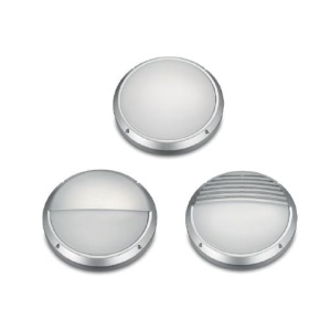 22w LED SILVER CIRCULAR BULKHEAD c/w 3 TRIM OPTIONS