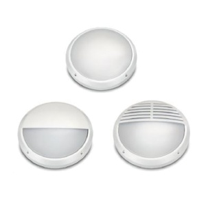22w LED WHITE BULKHEAD c/w 3 TRIM OPTIONS