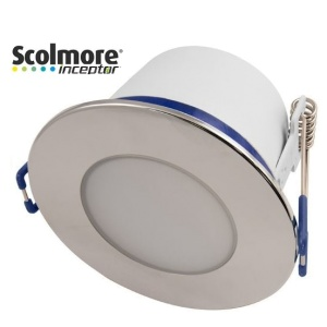 Contract 5W Dimmable Reduced Height Downlight with Polished Chrome Bezel