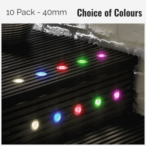 10 Pack of 40mm Decking Lights