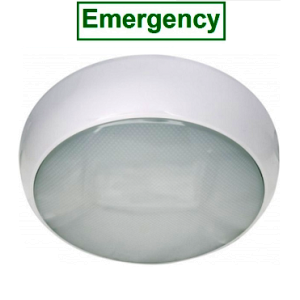 15w LED IP65 Circular Bulkhead - Emergency