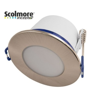 Contract 5W Dimmable Reduced Height Downlight with Satin Chrome Bezel