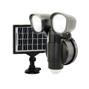 Solar Powered 4W LED Twin Security Light with PIR Sensor 400 Lumen