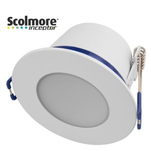Contract 5W Dimmable Reduced Height Downlight with White Bezel