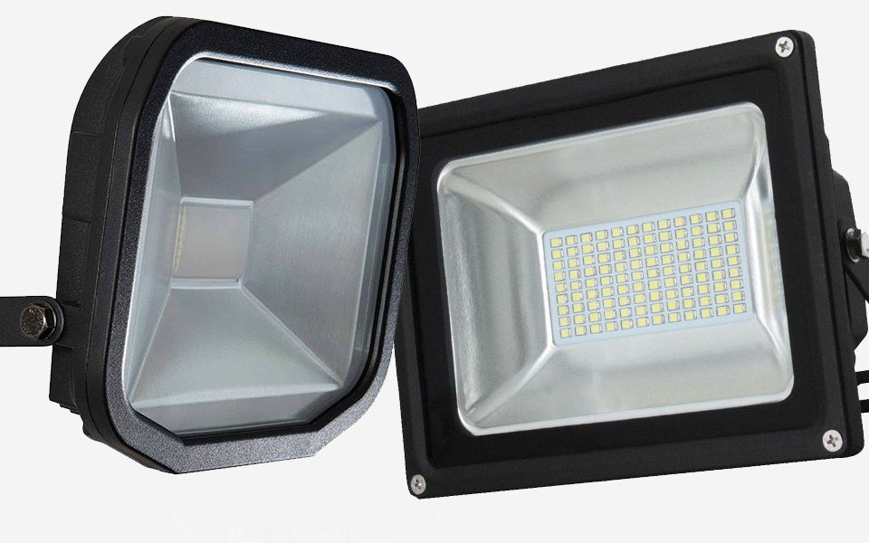 LED floodlight without PIR